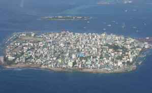 Mal�, the capital of Maldives