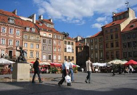Central Square in Warsaw, Poland